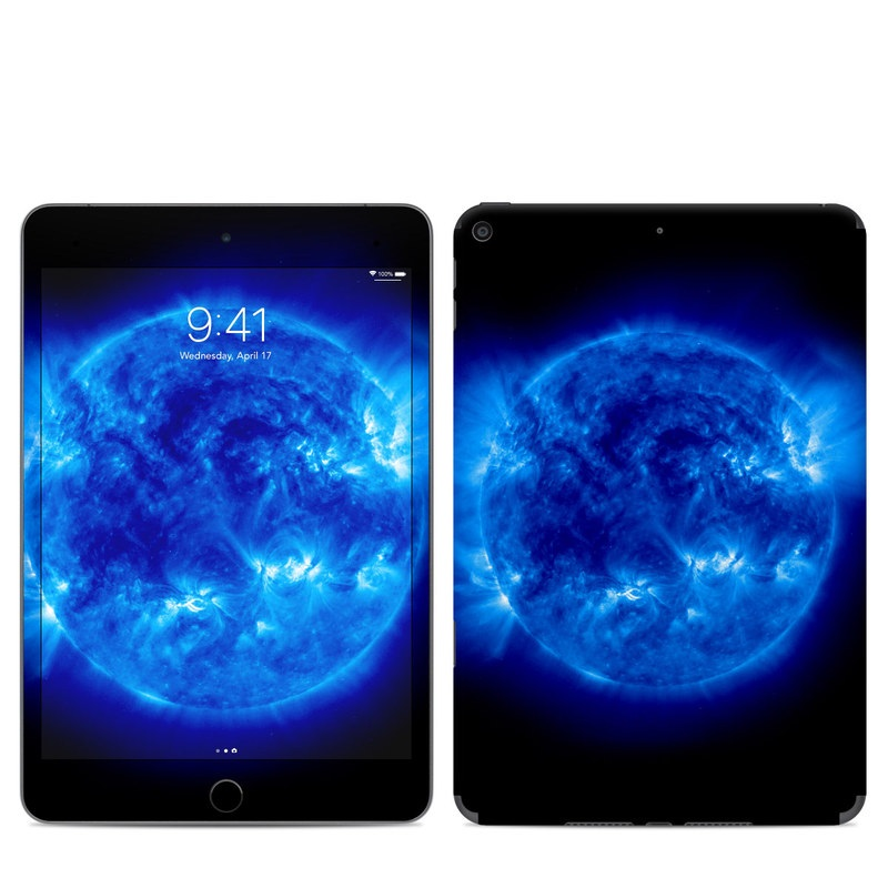 iPad mini 5 Skin design of Blue, Astronomical object, Outer space, Atmosphere, Electric blue, Earth, Planet, Water, Space, Universe with blue, black colors
