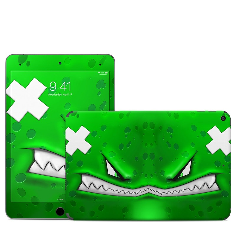 iPad mini 5 Skin design of Green, Font, Animation, Logo, Graphics, Games with green, white colors