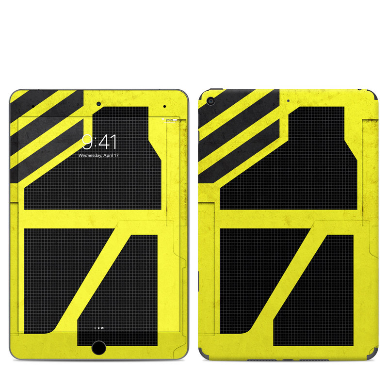iPad mini Skin design of Yellow, Green, Font, Pattern, Graphic design with black, yellow, gray, blue, green colors