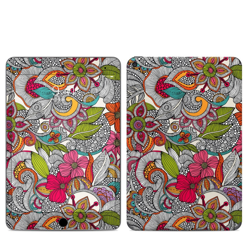 iPad mini Skin design of Pattern, Drawing, Visual arts, Art, Design, Doodle, Floral design, Motif, Illustration, Textile with gray, red, black, green, purple, blue colors
