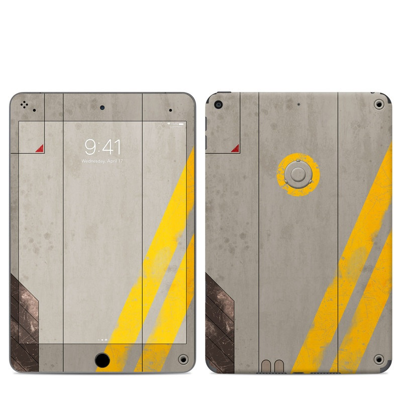 iPad mini Skin design of Yellow, Wall, Line, Orange, Design, Concrete, Font, Architecture, Parallel, Wood with gray, yellow, red, black colors