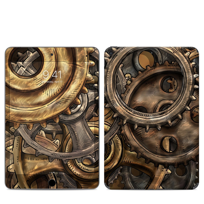 iPad mini 5 Skin design of Metal, Auto part, Bronze, Brass, Copper with black, red, green, gray colors