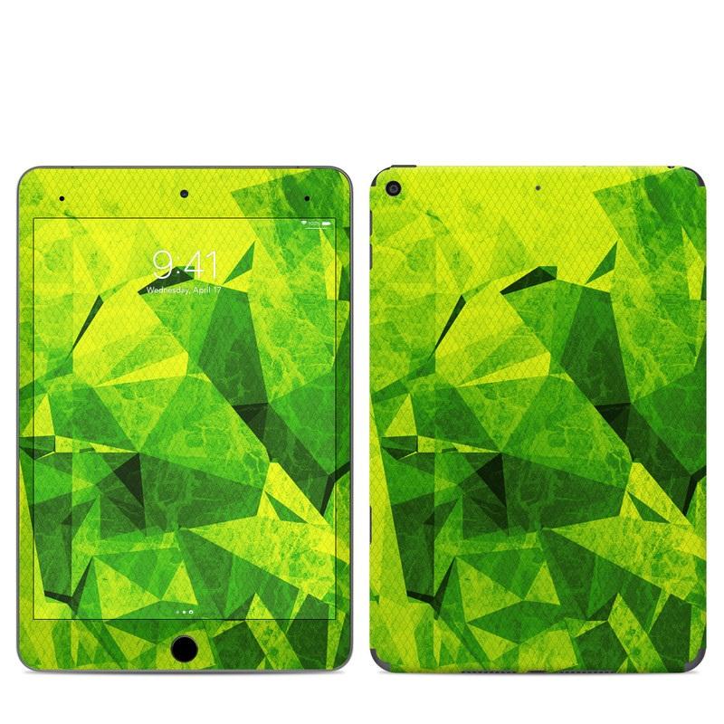 iPad mini Skin design of Green, Pattern, Leaf, Design, Illustration with green colors