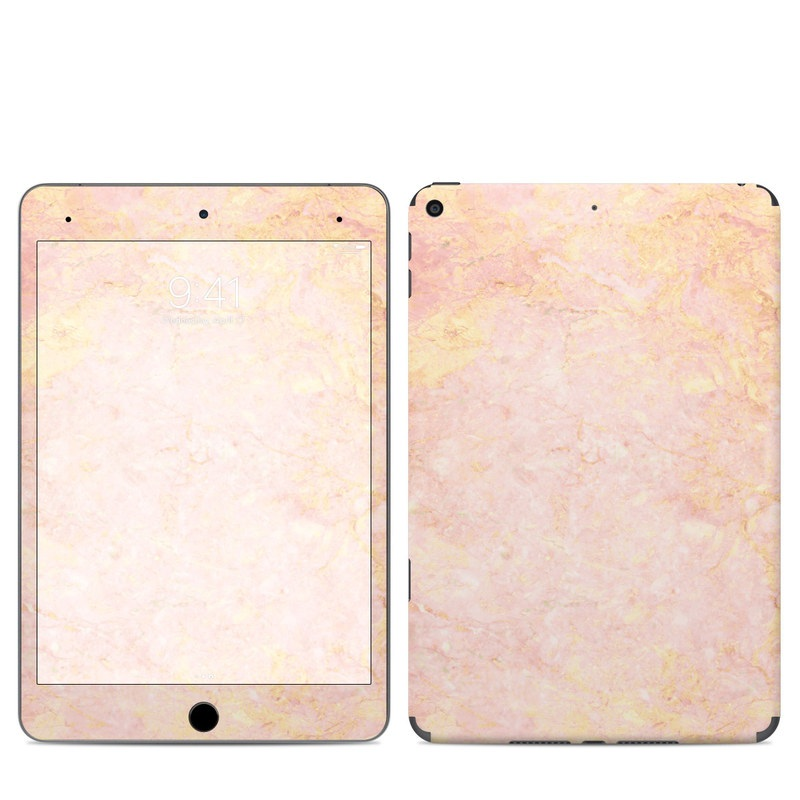 iPad mini 5 Skin design of Pink, Peach, Wallpaper, Pattern with pink, yellow, orange colors