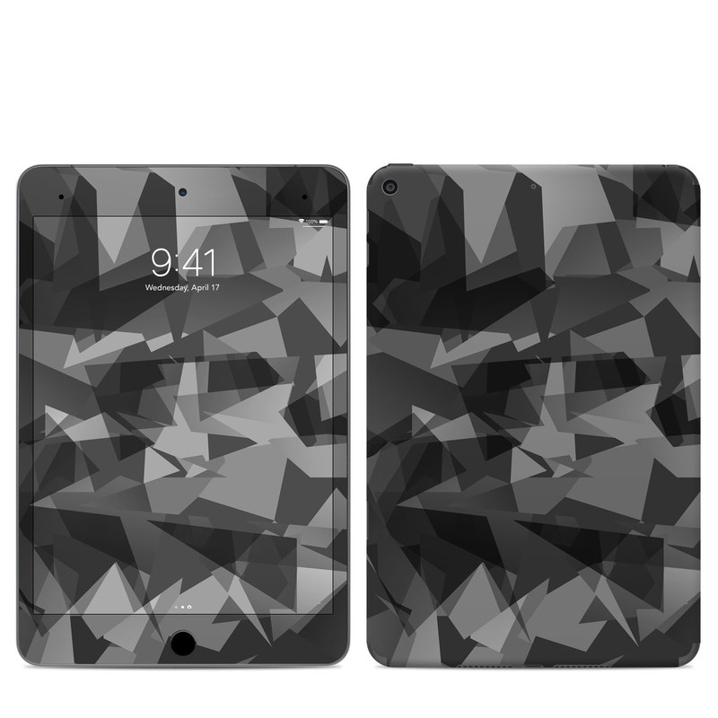 iPad mini Skin design of Black, Pattern, Triangle, Black-and-white, Monochrome, Grey, Design, Line, Architecture, Monochrome photography with black, gray colors