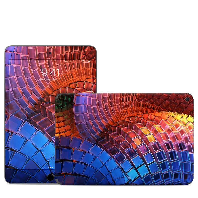 iPad mini 5 Skin design of Blue, Red, Orange, Light, Pattern, Architecture, Design, Fractal art, Colorfulness, Psychedelic art with black, red, blue, purple, gray colors