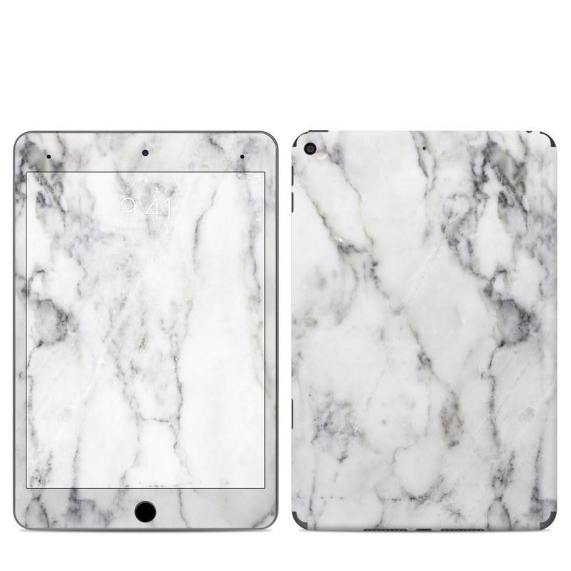 iPad mini Skin design of White, Geological phenomenon, Marble, Black-and-white, Freezing with white, black, gray colors
