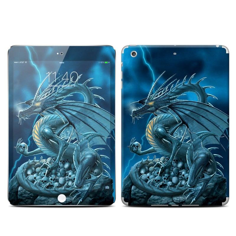 iPad mini 3 Skin design of Cg artwork, Dragon, Mythology, Fictional character, Illustration, Mythical creature, Art, Demon with blue, yellow colors