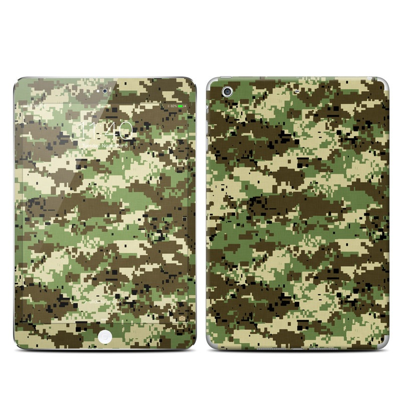Digital Woodland Camo iPad mini 3 Skin