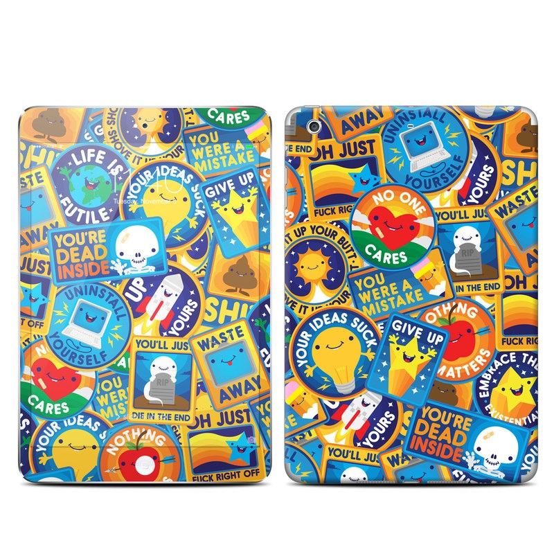 iPad mini 3 Skin design of Pattern, Visual arts, Design, Art, Mosaic, Psychedelic art with blue, yellow, orange, white, green, red, gray colors