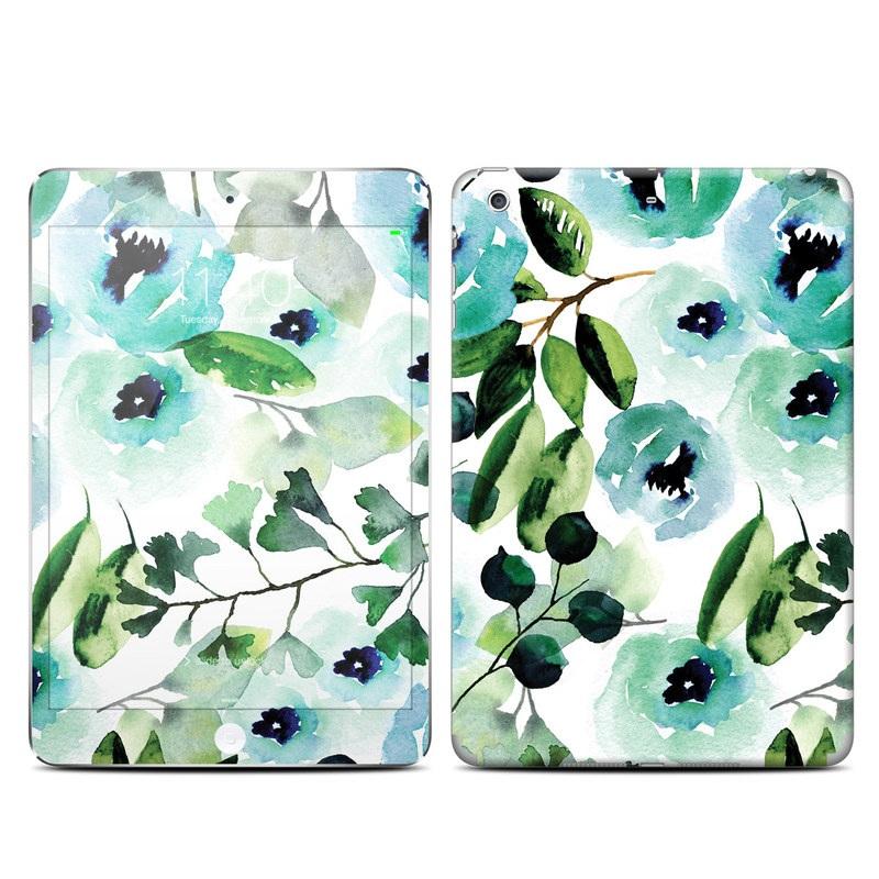 iPad mini 3 Skin design of Green, Pattern, Leaf, Aqua, Plant, Design, Branch, Organism, Flower, Ivy with white, green, blue, black colors