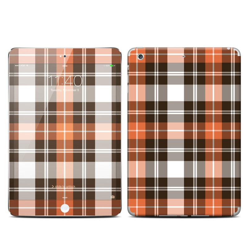 Copper Plaid iPad mini 3 Skin