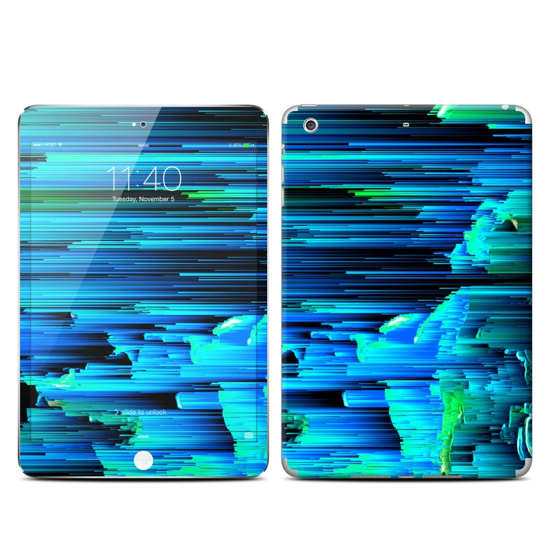 iPad mini 3 Skin design of Blue, Green, Turquoise, Light, Colorfulness, Electric blue with blue, green, black, white colors
