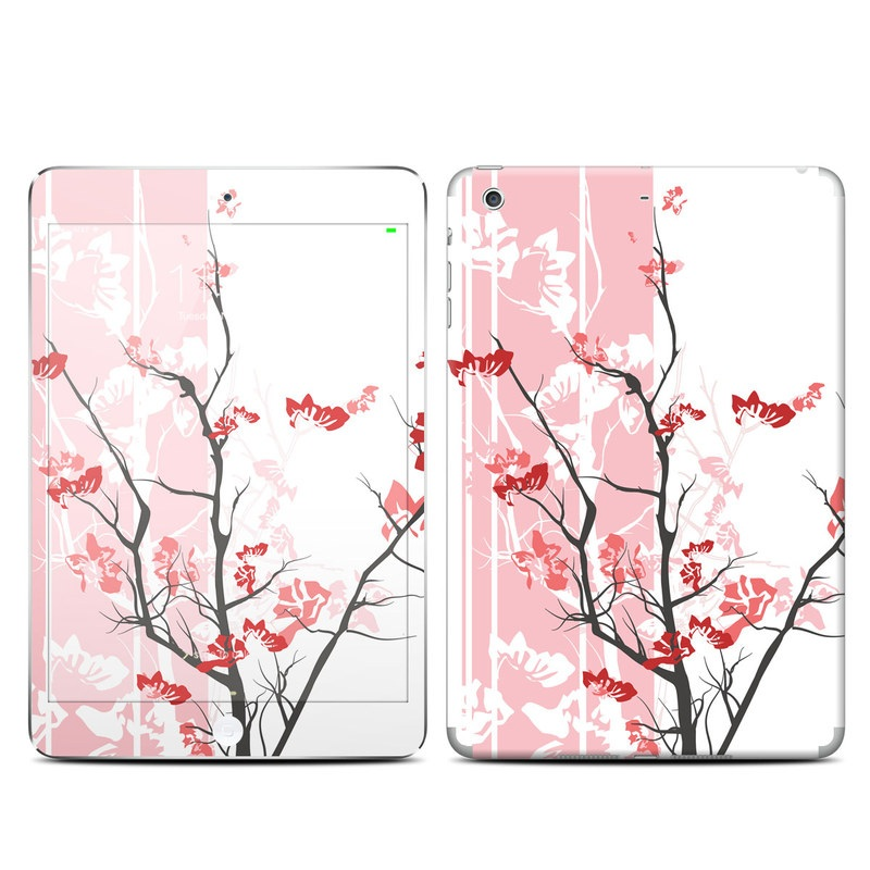 iPad mini 3 Skin design of Branch, Red, Flower, Plant, Tree, Twig, Blossom, Botany, Pink, Spring with white, pink, gray, red, black colors