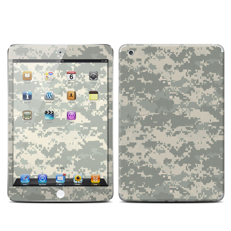 iPad mini 2 Skin design of Military camouflage, Green, Pattern, Uniform, Camouflage, Design, Wallpaper with gray, green colors