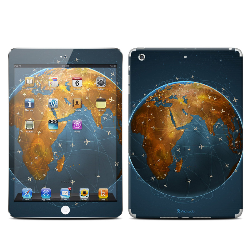 iPad mini 2 Skin design of Planet, Earth, Astronomical object, World, Atmosphere, Globe, Space, Sky, Astronomy, Circle with blue, yellow, brown colors