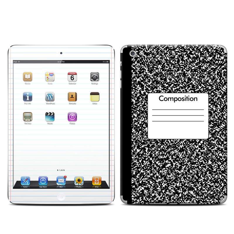 iPad mini 2 Skin design of Text, Font, Line, Pattern, Black-and-white, Illustration with black, gray, white colors