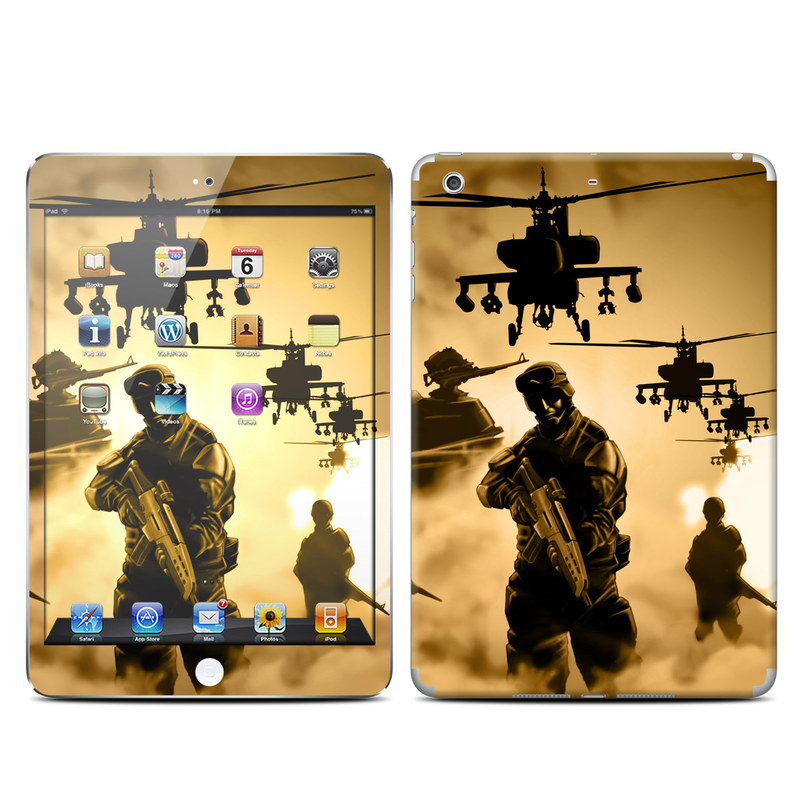 iPad mini 2 Skin design of Soldier, Army men, Military organization, Infantry, Army, Military, Military person, Military uniform, Marines, Military officer with green, black, pink, red, gray, yellow colors