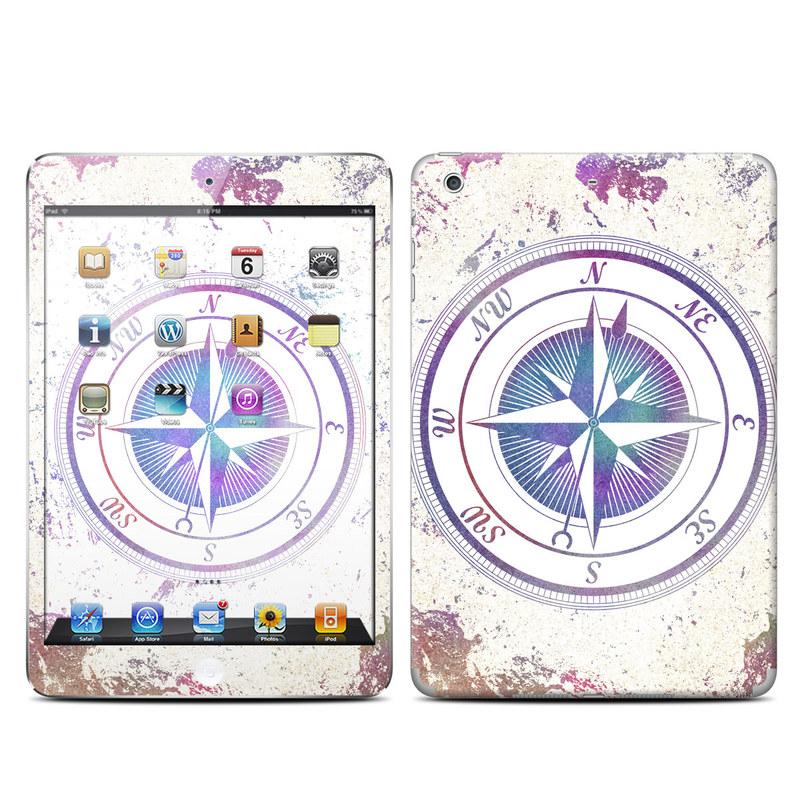 iPad mini 2 Skin design of Clock, Circle, Compass, Graphics, Pattern, Illustration, Interior design with gray, white, yellow, pink, purple, blue colors