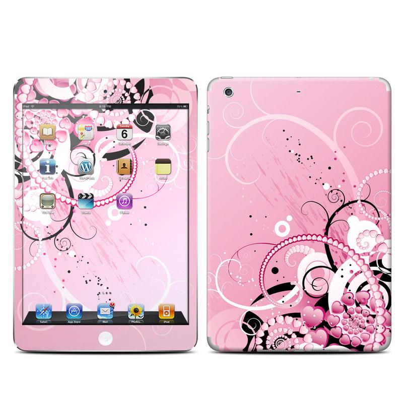 iPad mini 2 Skin design of Pink, Floral design, Graphic design, Text, Design, Flower Arranging, Pattern, Illustration, Flower, Floristry with pink, gray, black, white, purple, red colors