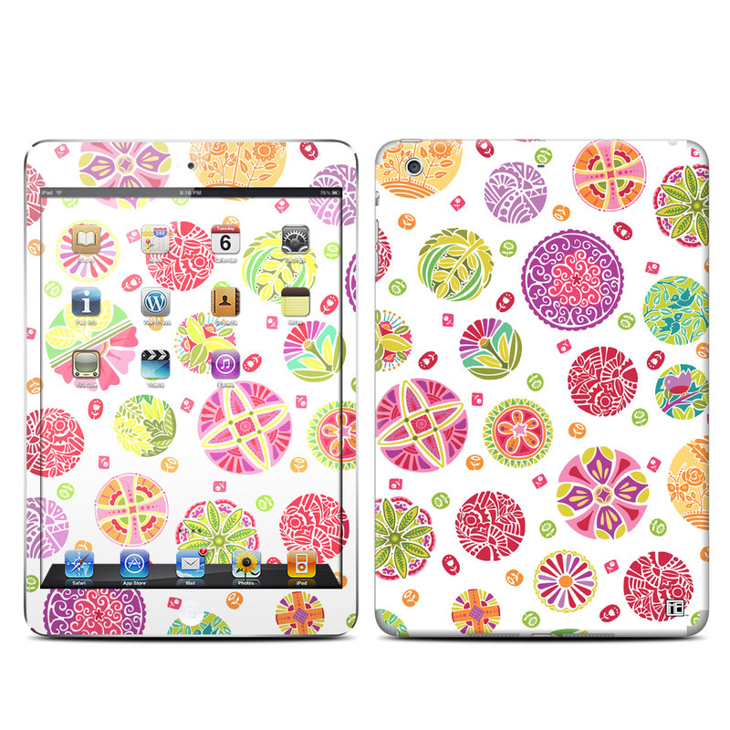 Round Flowers iPad mini 2 Retina Skin