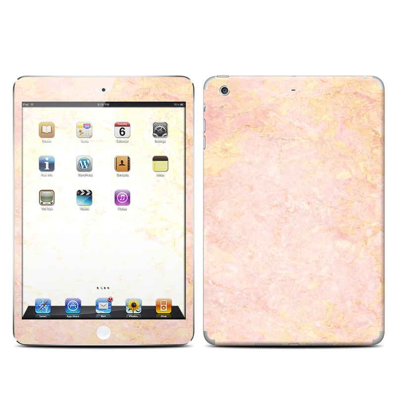 iPad mini 2 Skin design of Pink, Peach, Wallpaper, Pattern with pink, yellow, orange colors