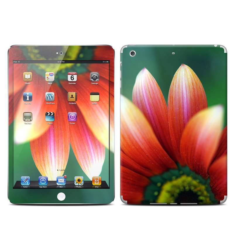 iPad mini 2 Skin design of Petal, Flower, Nature, Red, Orange, Gazania, Yellow, Close-up, Plant, Flowering plant with black, red, gray, green, pink colors