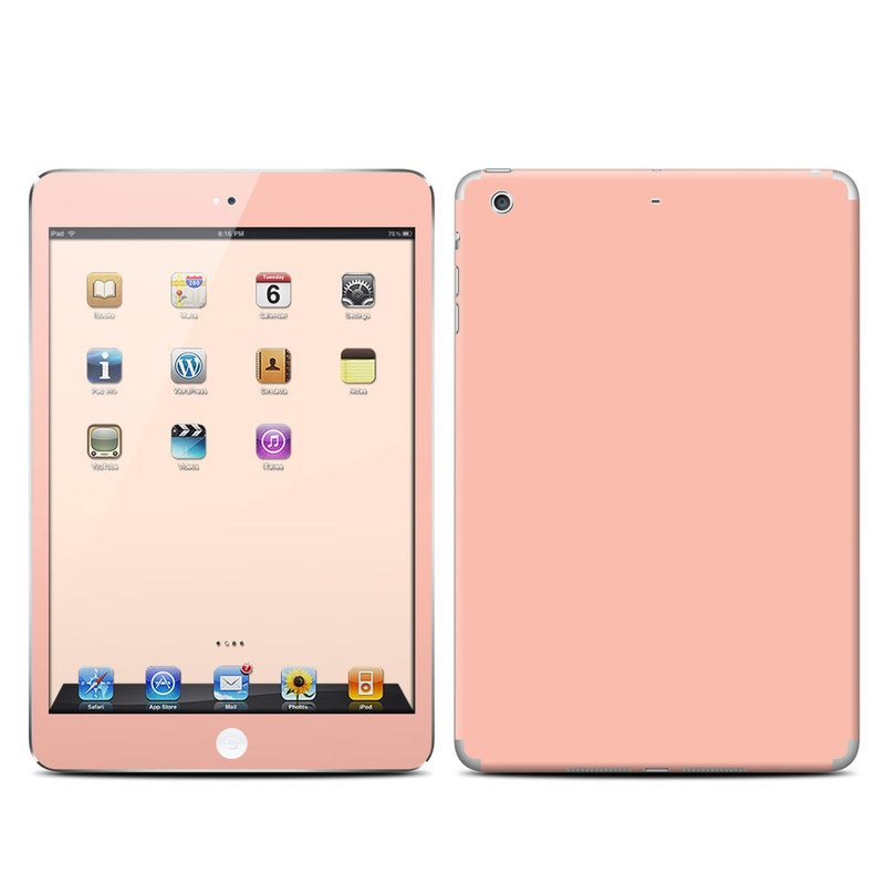 iPad mini 2 Skin design of Orange, Pink, Peach, Brown, Red, Yellow, Material property, Font, Beige with pink colors