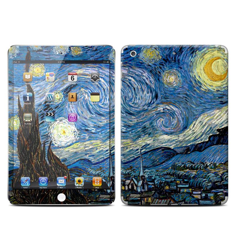 iPad mini 2 Skin design of Painting, Purple, Art, Tree, Illustration, Organism, Watercolor paint, Space, Modern art, Plant with gray, black, blue, green colors