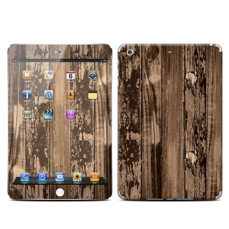 iPad mini 2 Skin design of Wood, Tree, Brown, Plank, Trunk, Pattern, Line, Hardwood, Black-and-white, Forest with brown, black colors
