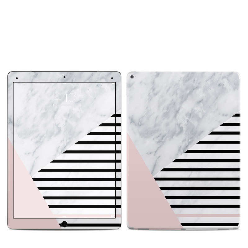 iPad Pro 1st Gen 12.9-inch Skin design of White, Line, Architecture, Stairs, Parallel with gray, black, white, pink colors