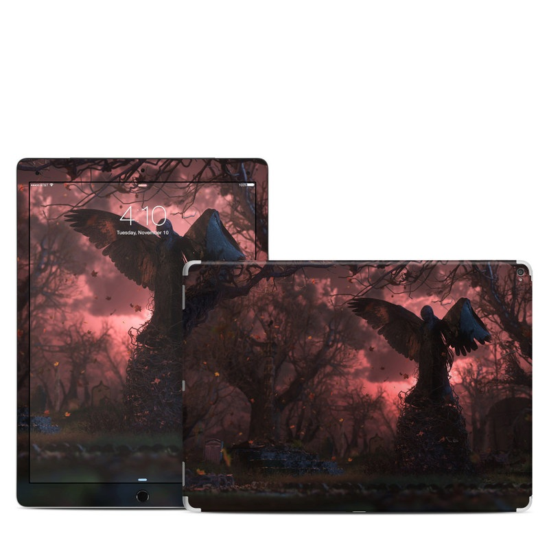 iPad Pro 12.9-inch 1st Gen Skin design of Nature, Sky, Atmospheric phenomenon, Tree, Atmosphere, Darkness, Night, Screenshot, Cg artwork, Fictional character with black, red colors