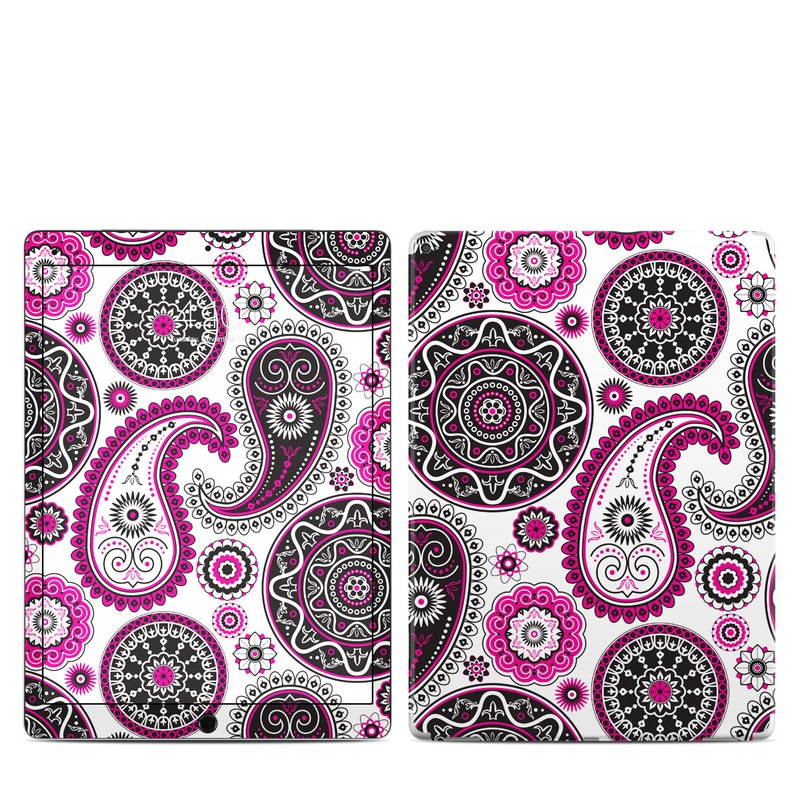iPad Pro 12.9-inch 1st Gen Skin design of Pattern, Paisley, Motif, Visual arts, Pink, Design, Circle, Textile with white, pink, black colors