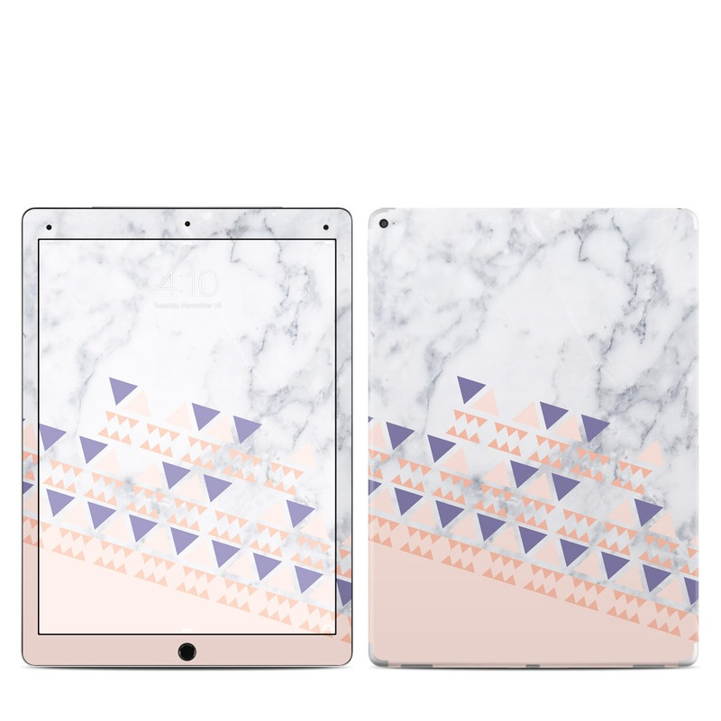 iPad Pro 12.9-inch 1st Gen Skin design of Line, Triangle with pink, purple, white, black, gray colors