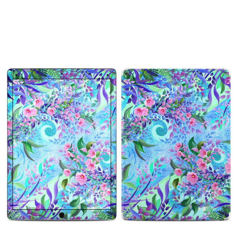 iPad Pro 1st Gen 12.9-inch Skin design of Psychedelic art, Pattern, Lilac, Purple, Art, Pink, Design, Fractal art, Visual arts, Organism with gray, blue, purple colors