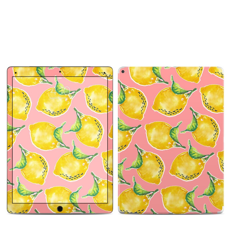 iPad Pro 12.9-inch 1st Gen Skin design of Yellow, Plant with yellow, green, pink colors