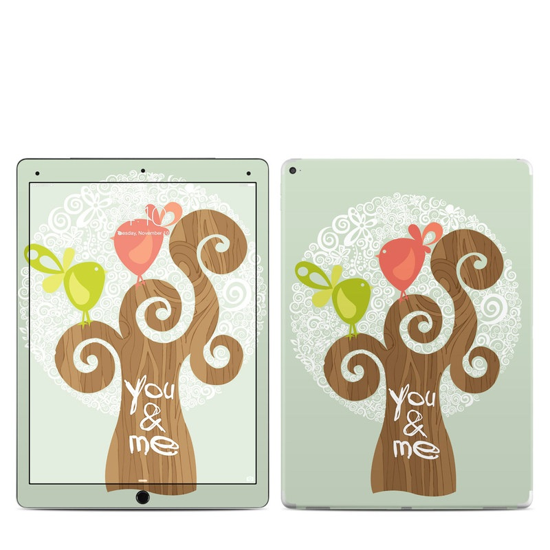 iPad Pro 12.9-inch 1st Gen Skin design of Illustration, Art, Heart, Tree, Font, Graphic design, Plant, Drawing with gray, red, green, white colors