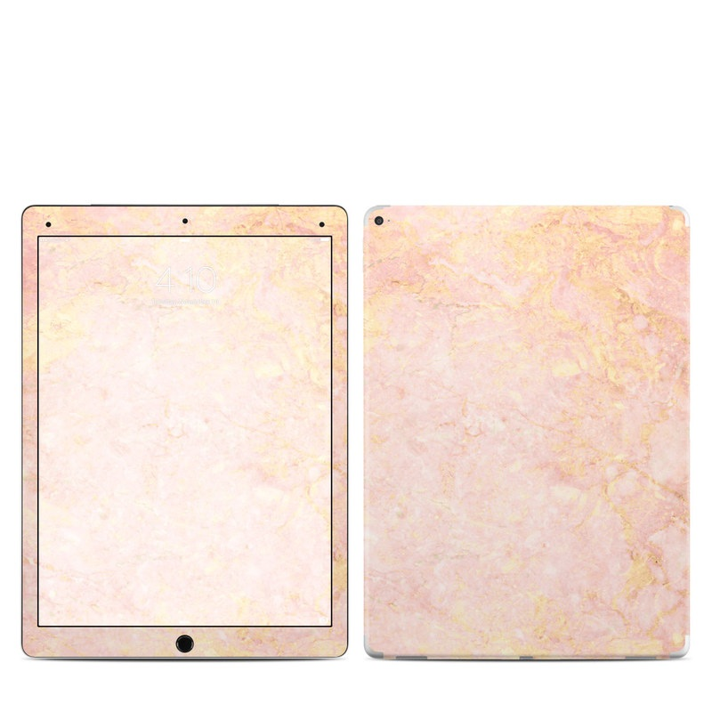 iPad Pro 1st Gen 12.9-inch Skin design of Pink, Peach, Wallpaper, Pattern with pink, yellow, orange colors