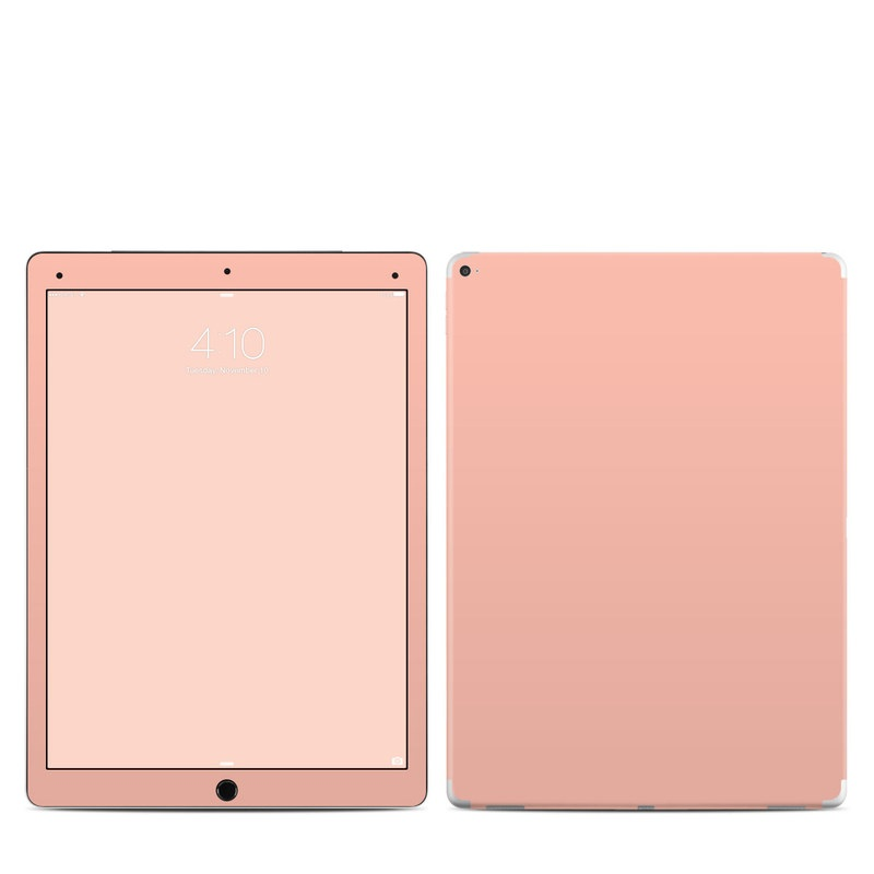iPad Pro 12.9-inch 1st Gen Skin design of Orange, Pink, Peach, Brown, Red, Yellow, Material property, Font, Beige with pink colors