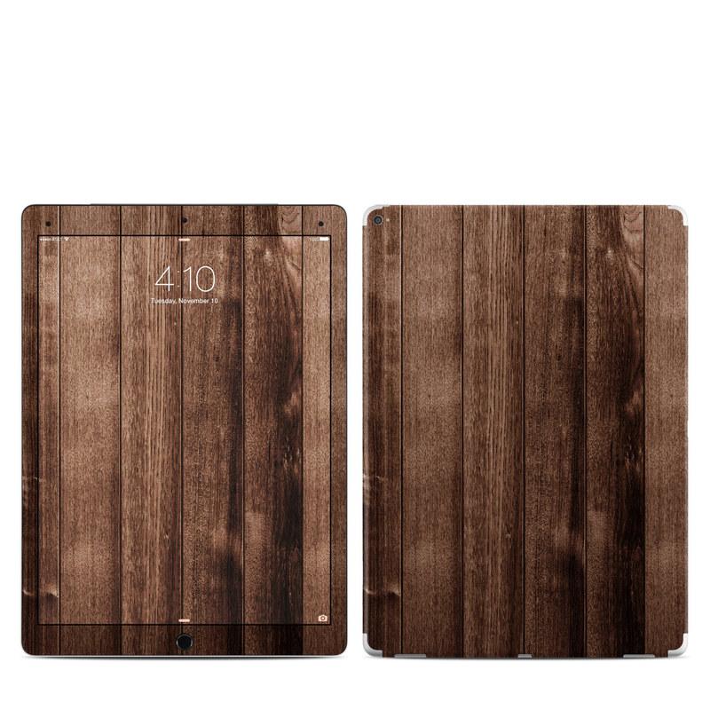 iPad Pro 1st Gen 12.9-inch Skin design of Wood, Wood flooring, Hardwood, Wood stain, Plank, Brown, Floor, Line, Flooring, Pattern with brown colors