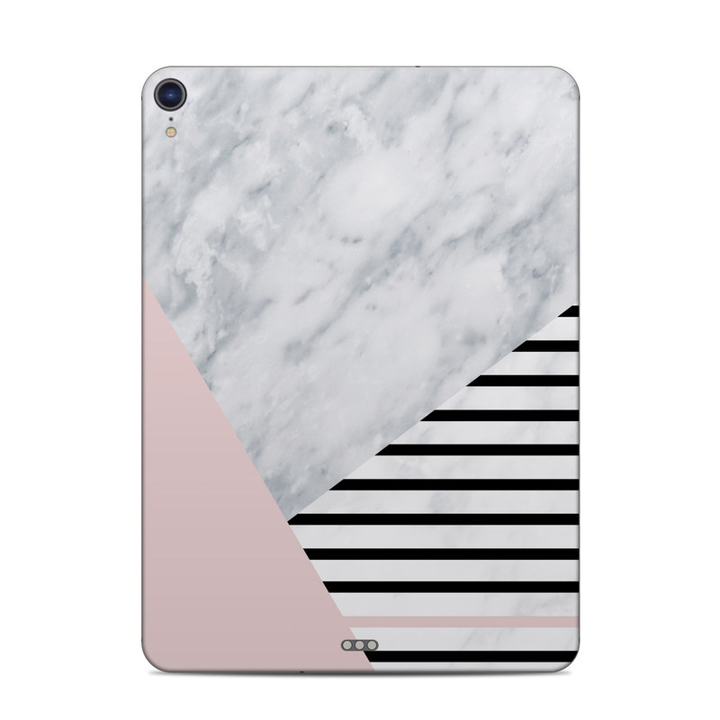 iPad Pro 3rd Gen 11-inch Skin design of White, Line, Architecture, Stairs, Parallel with gray, black, white, pink colors