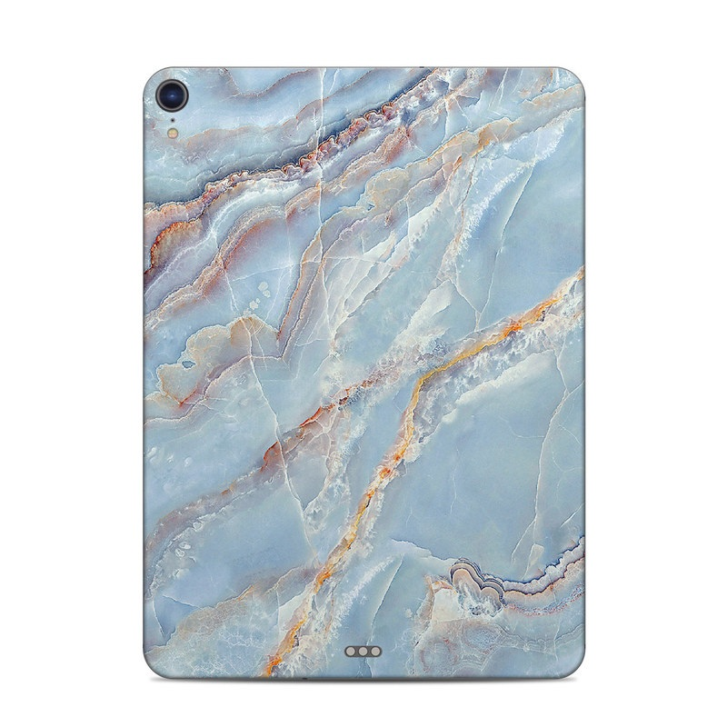 iPad Pro 11-inch Skin design of Blue, Azure, Aqua, Onyx with blue, red, orange, white colors