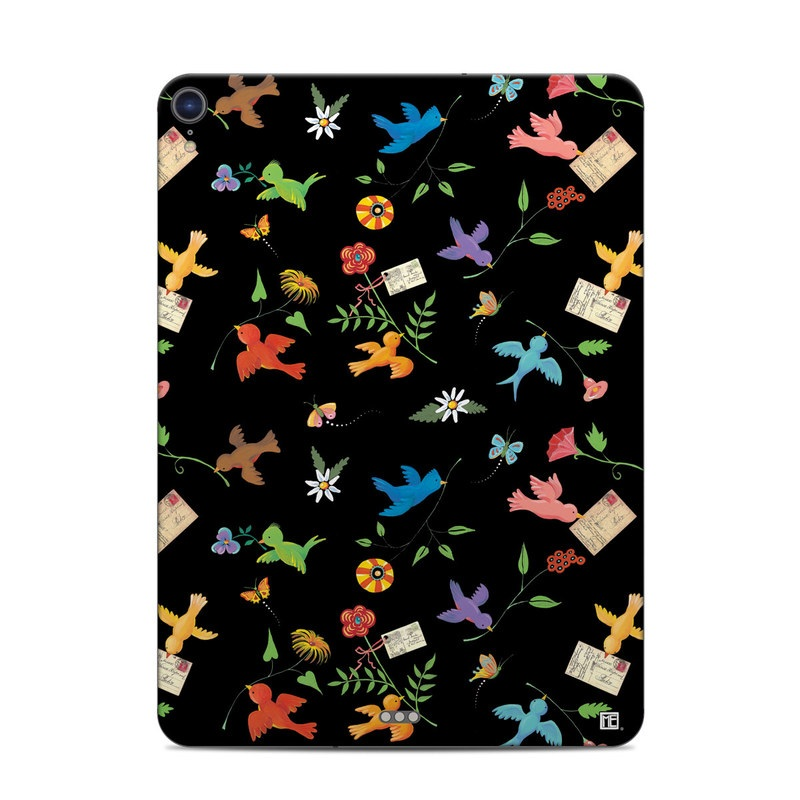 iPad Pro 11-inch Skin design of Pattern, Design, Textile, Graphic design with black, yellow, red, blue, green colors