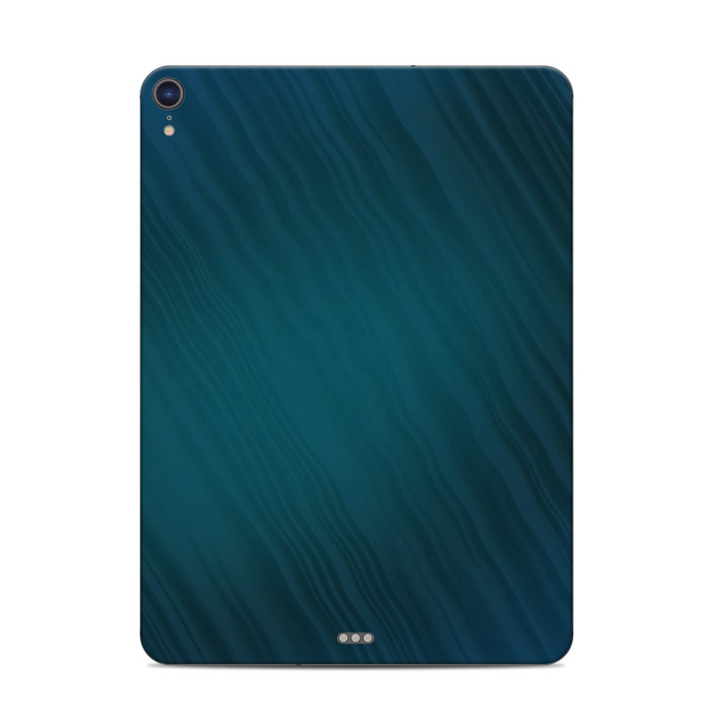 iPad Pro 3rd Gen 11-inch Skin design of Blue, Aqua, Turquoise, Green, Azure, Teal, Electric blue, Pattern, Sky, Atmosphere with black, blue colors