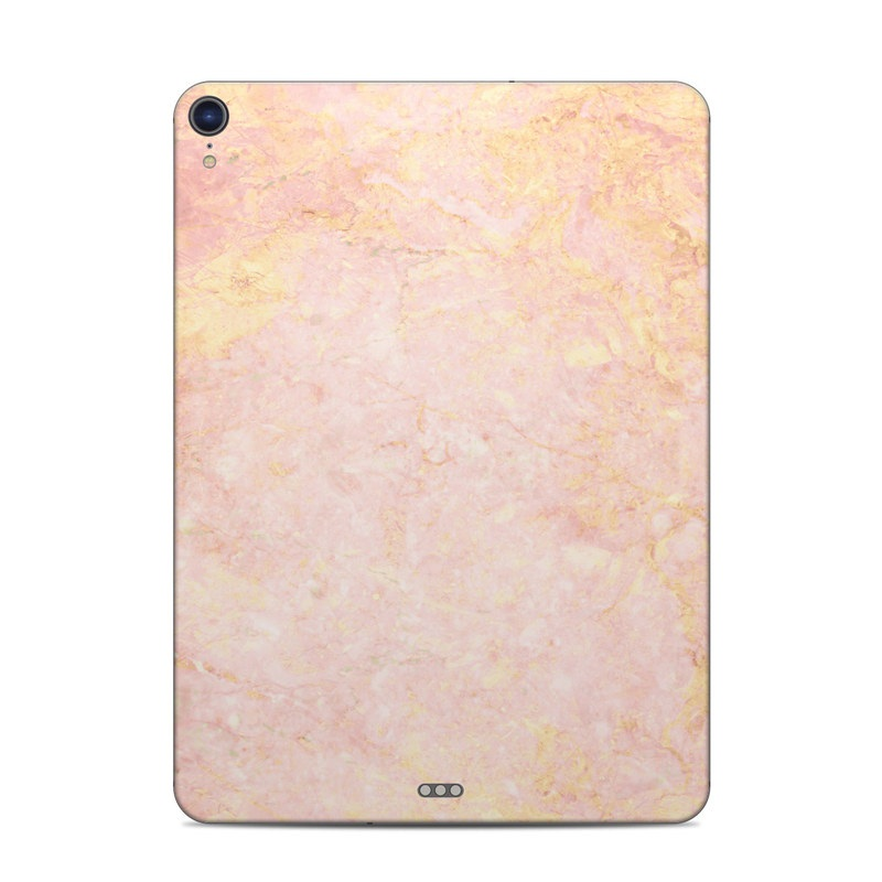iPad Pro 11-inch Skin design of Pink, Peach, Wallpaper, Pattern with pink, yellow, orange colors