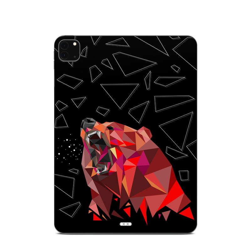 iPad Pro 11-inch Skin design of Graphic design, Triangle, Font, Illustration, Design, Art, Visual arts, Graphics, Pattern, Space with black, red colors