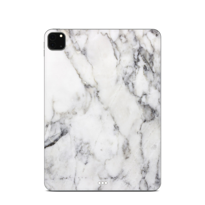 iPad Pro 11-inch Skin design of White, Geological phenomenon, Marble, Black-and-white, Freezing with white, black, gray colors