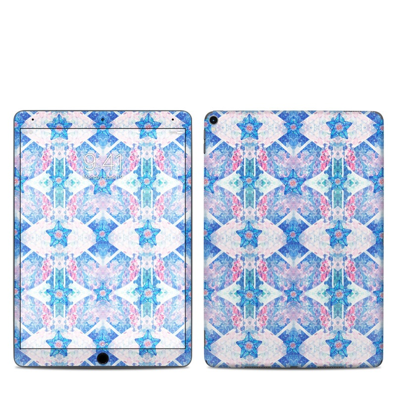 iPad Pro 10.5-inch Skin design of Pattern, Blue, Symmetry, Design with blue, white, pink colors