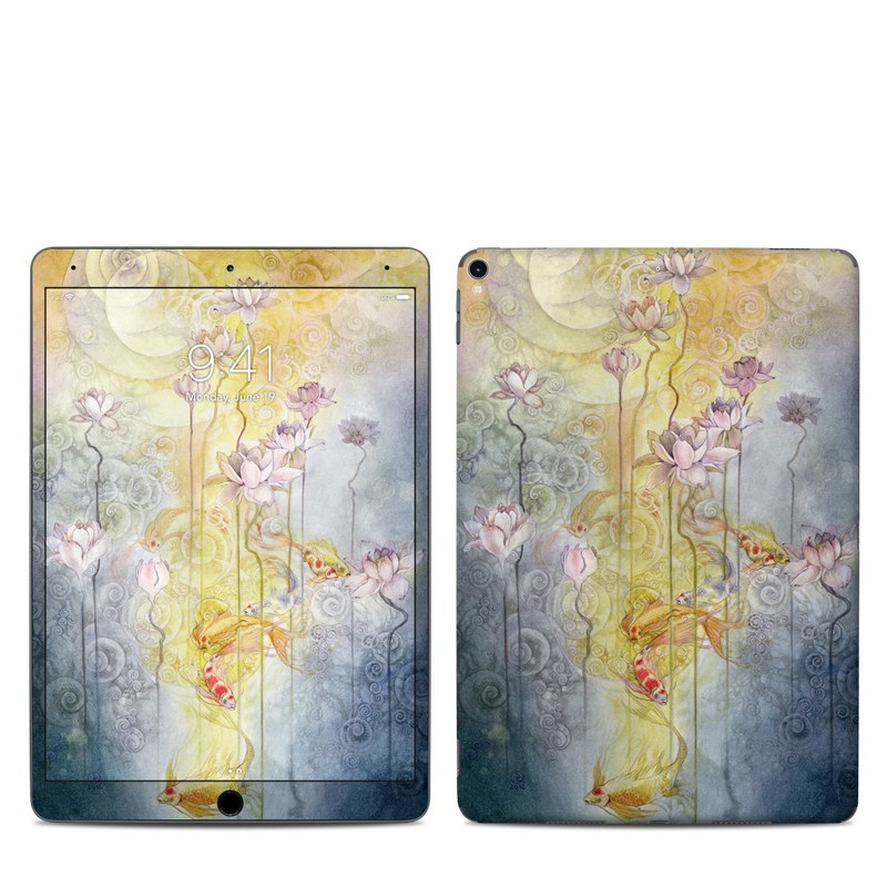 iPad Pro 10.5-inch Skin design of Watercolor paint, Painting, Art, Yellow, Flower, Acrylic paint, Floral design, Visual arts, Modern art, Illustration with blue, red, orange, pink, yellow colors