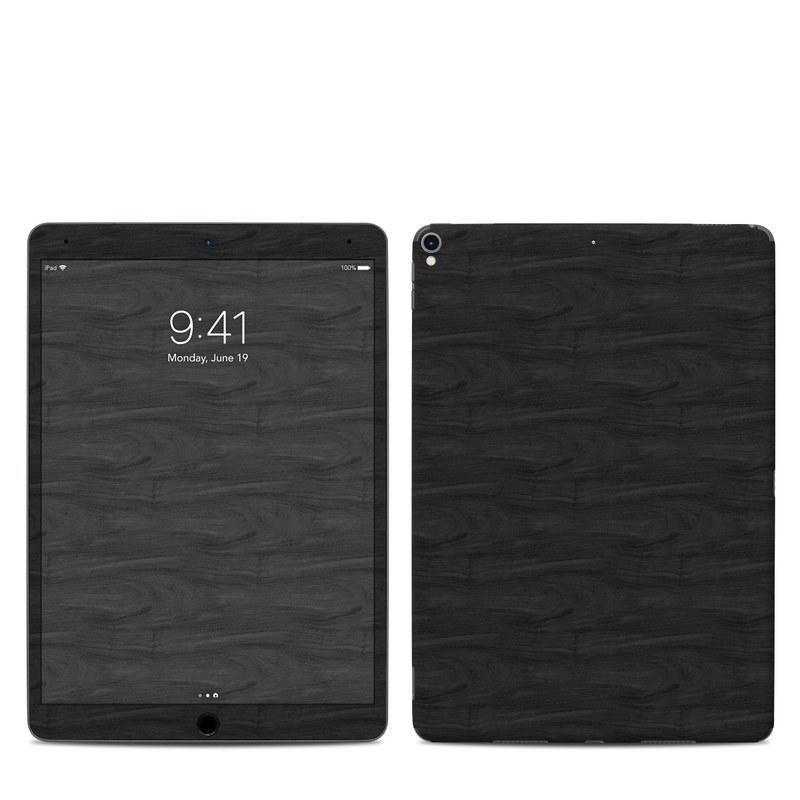 iPad Pro 2nd Gen 10.5-inch Skin design of Black, Brown, Wood, Grey, Flooring, Floor, Laminate flooring, Wood flooring with black colors
